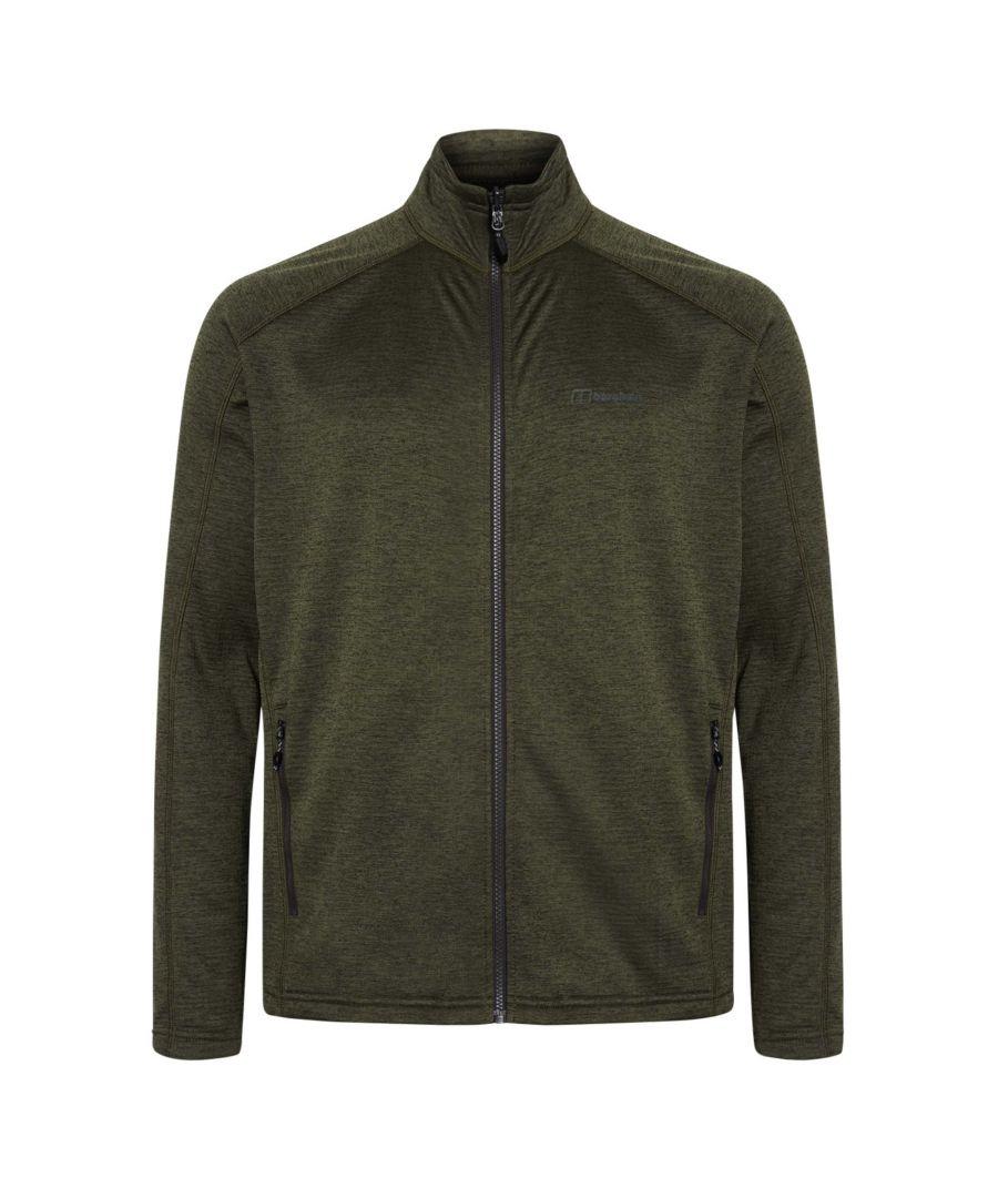 Image for Berghaus Spitzer Mens Full Zip Hooded Fleece Jacket Khaki