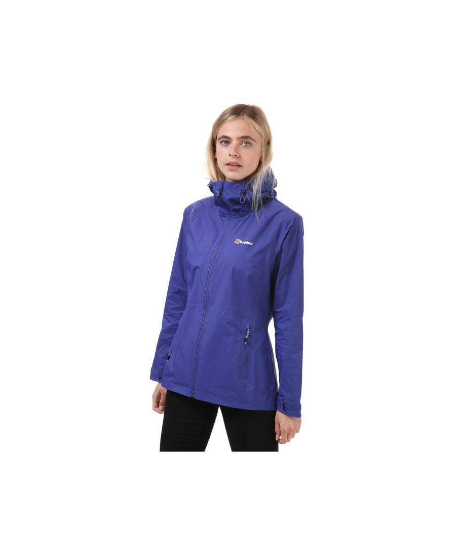 Image for Women's Berghaus Deluge Pro Waterproof Jacket Purple 8in Purple