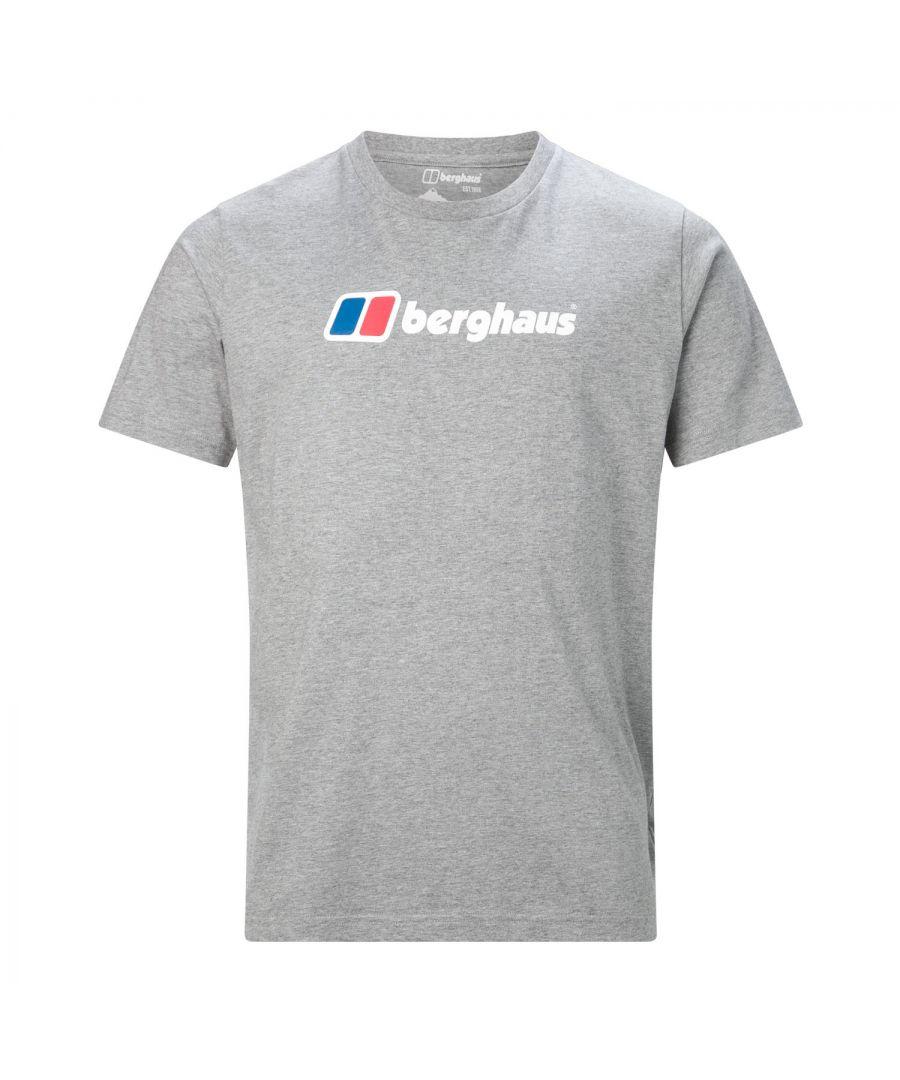 Image for Berghaus Big Corporate Logo Mens T-Shirt Grey - L