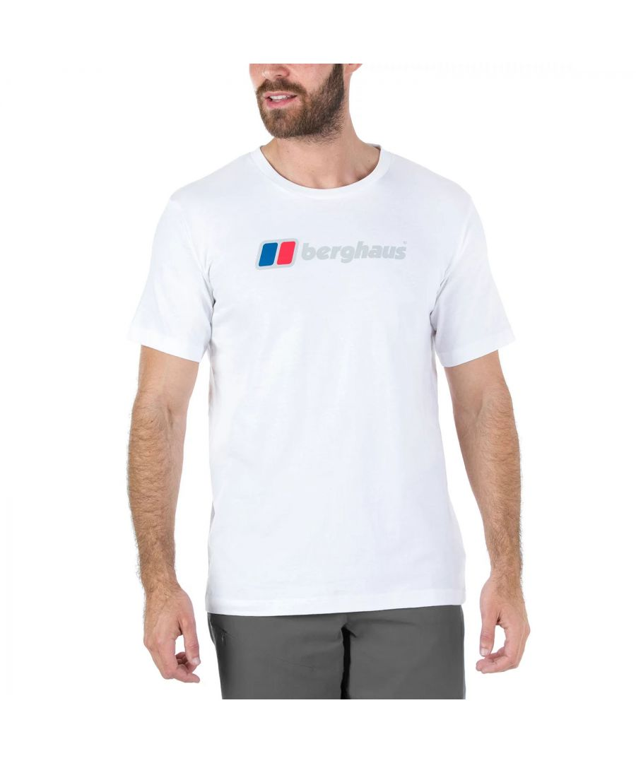 Image for Berghaus Big Corporate Logo Mens T-Shirt White - S