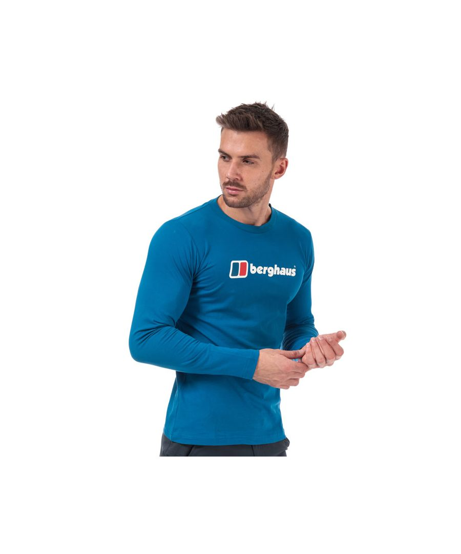 Image for Men's Berghaus Big Corp Logo Long Sleeve T-Shirt in Blue