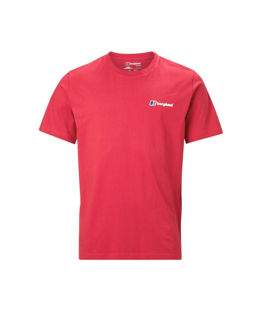 Image for Berghaus Front and Back Logo Mens T-Shirt Red - L