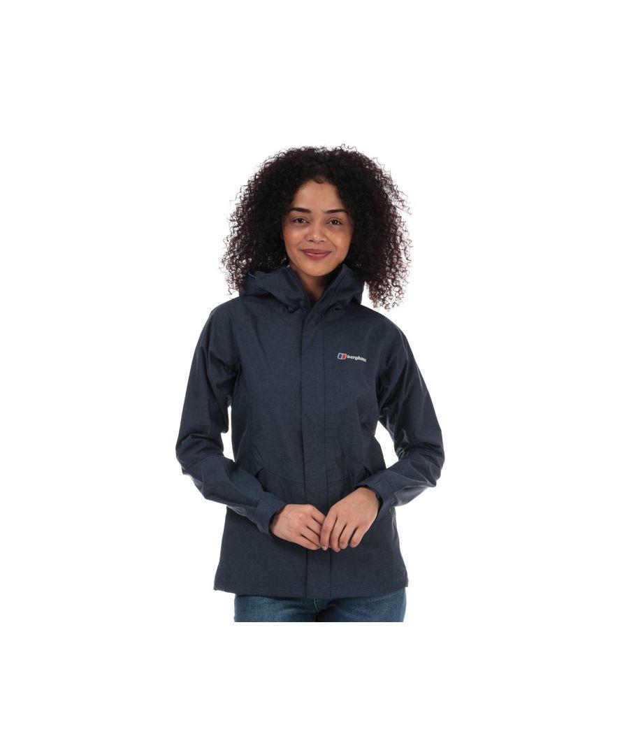 Image for Women's Berghaus Alluvion Waterproof Shell Jacket in Dark Blue