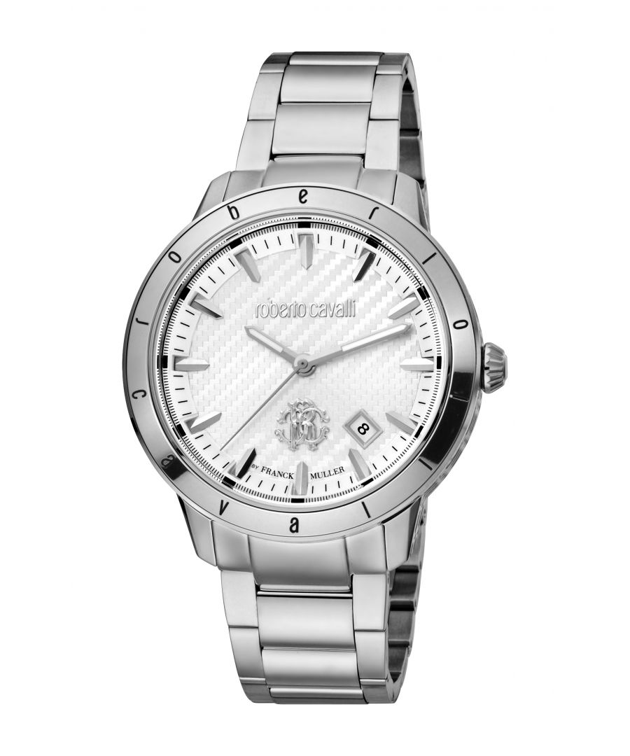 Image for Roberto Cavalli Mens RC-98 Silver White Dial Stainless Steel Bracelet Watch