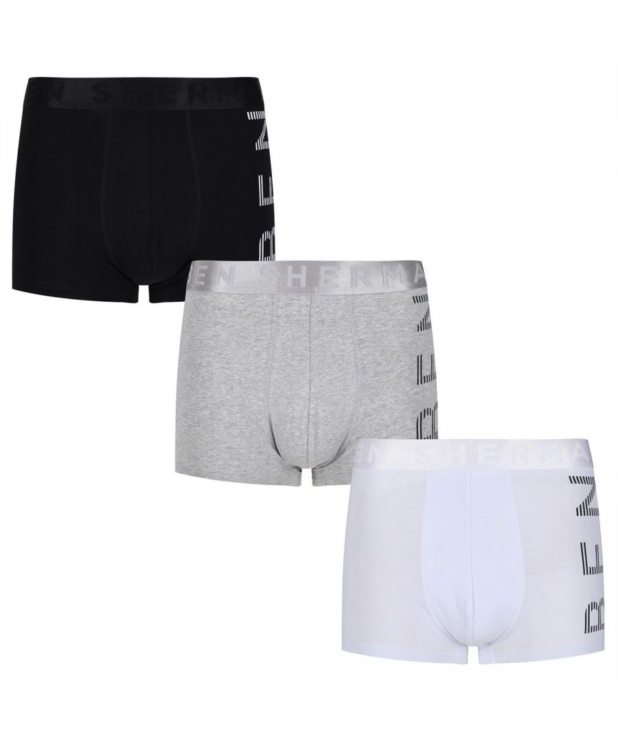 Image for Ben Sherman Mens Silas Trunk Briefs Elasticated Waistband Underwear 3 Pack