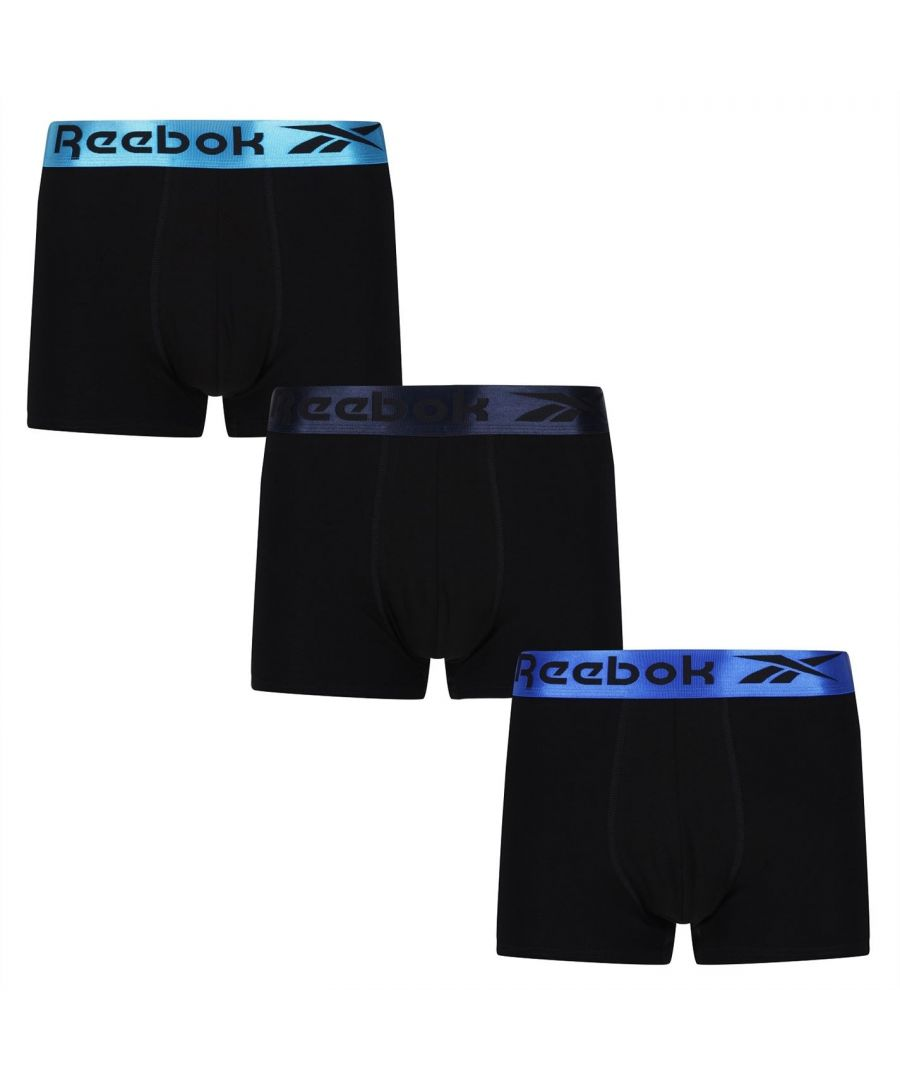Image for Reebok Mens Clemons 3 Pack Boxers Briefs Elasticated Waistband Underwear