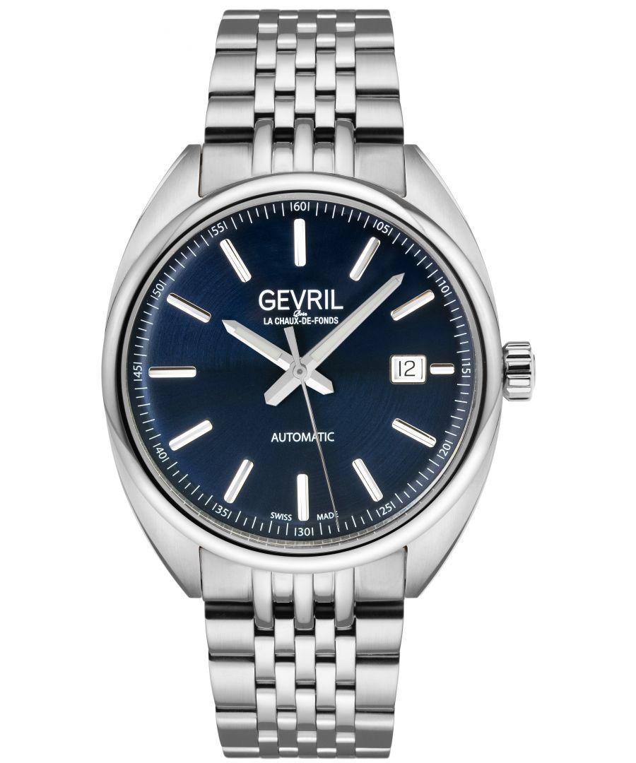 Image for Gevril Mens Five Points Blue Dial Stainless Steel Watch