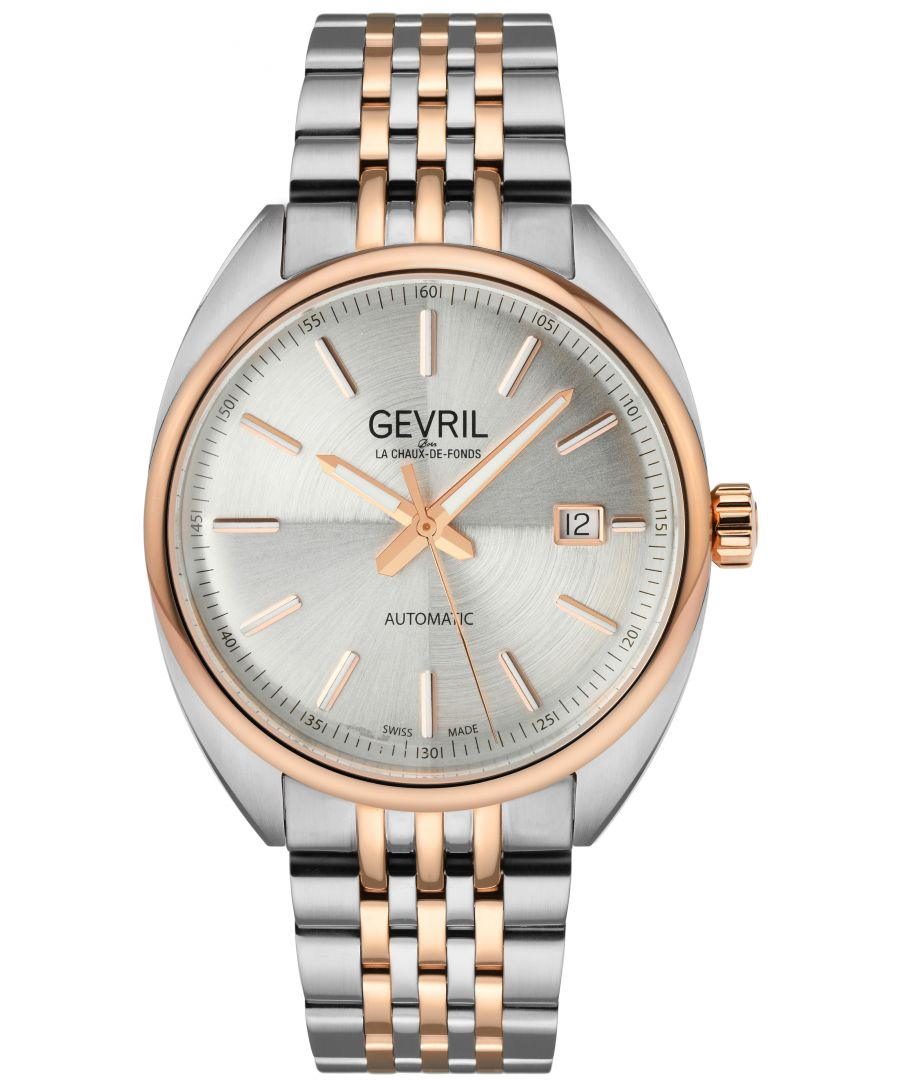 Image for Gevril Mens Five Points Silver Dial Two Tone watch