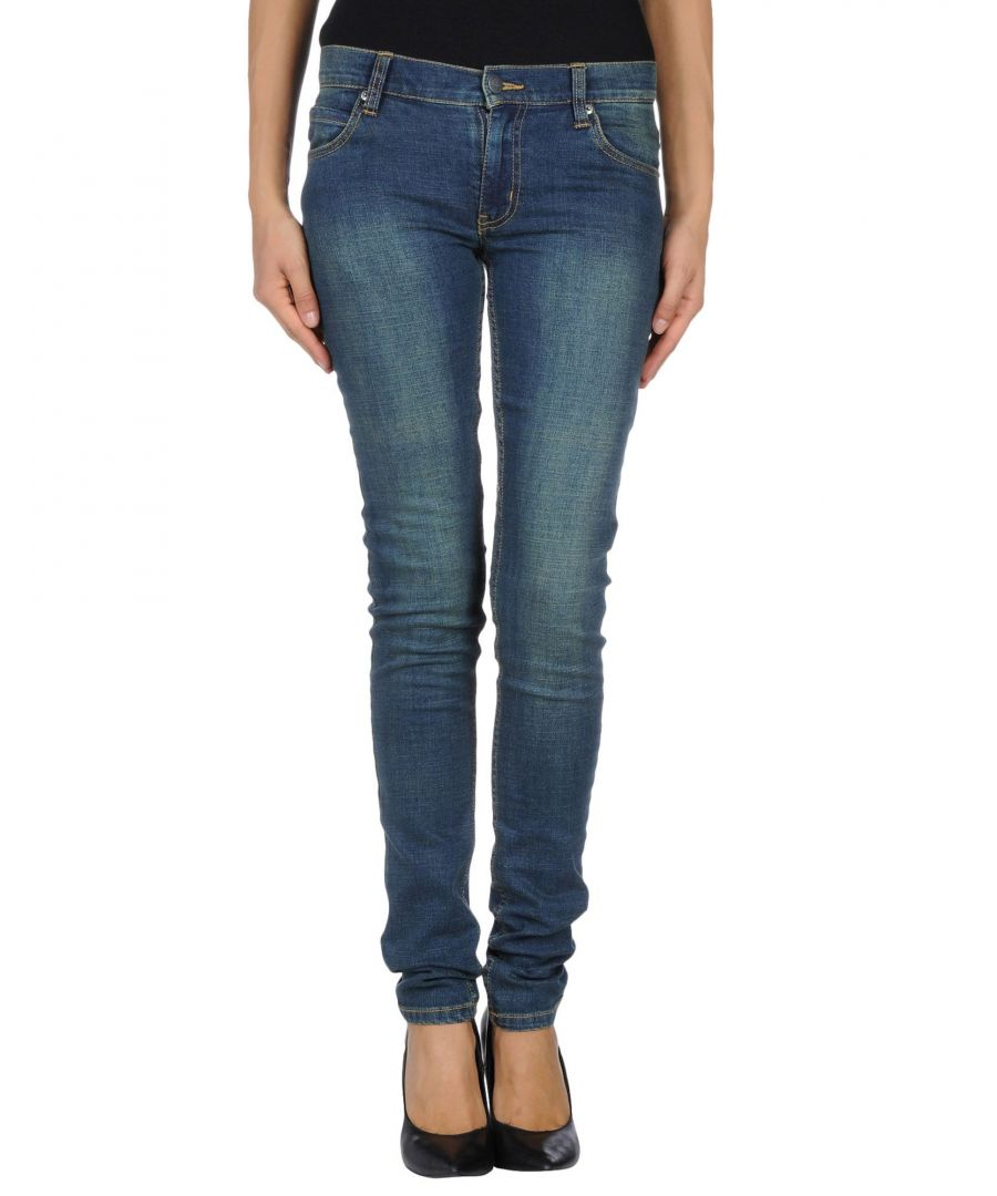 Image for Cheap Monday Blue Cotton Dark Wash Skinny Jeans