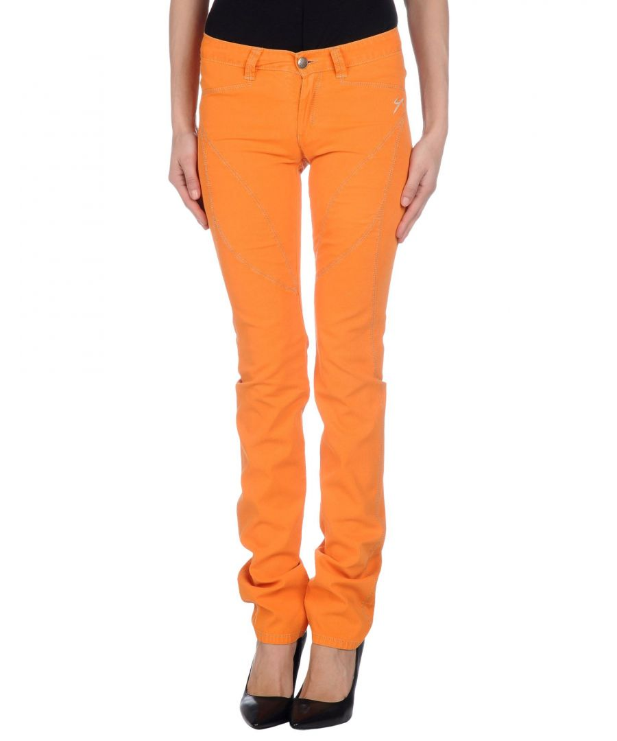 Image for 9.2 By Carlo Chionna Orange Cotton Trousers