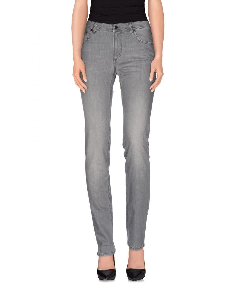 Image for Cerruti 1881 Woman Denim trousers Grey Cotton