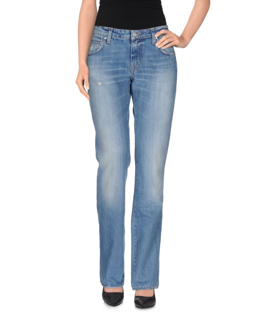 Image for (+) People Blue Cotton Mid Rise Jeans