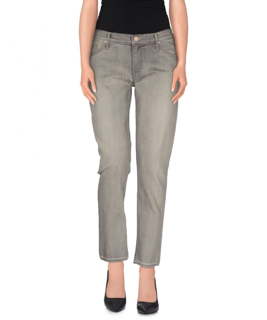Image for Mother Grey Cotton Jeans