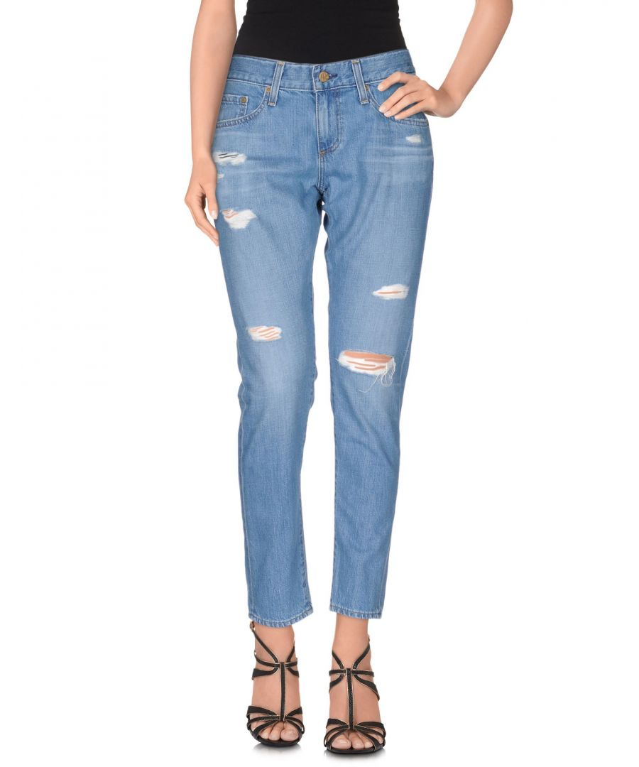 Image for Ag Jeans Blue Cotton Straight Leg Jeans