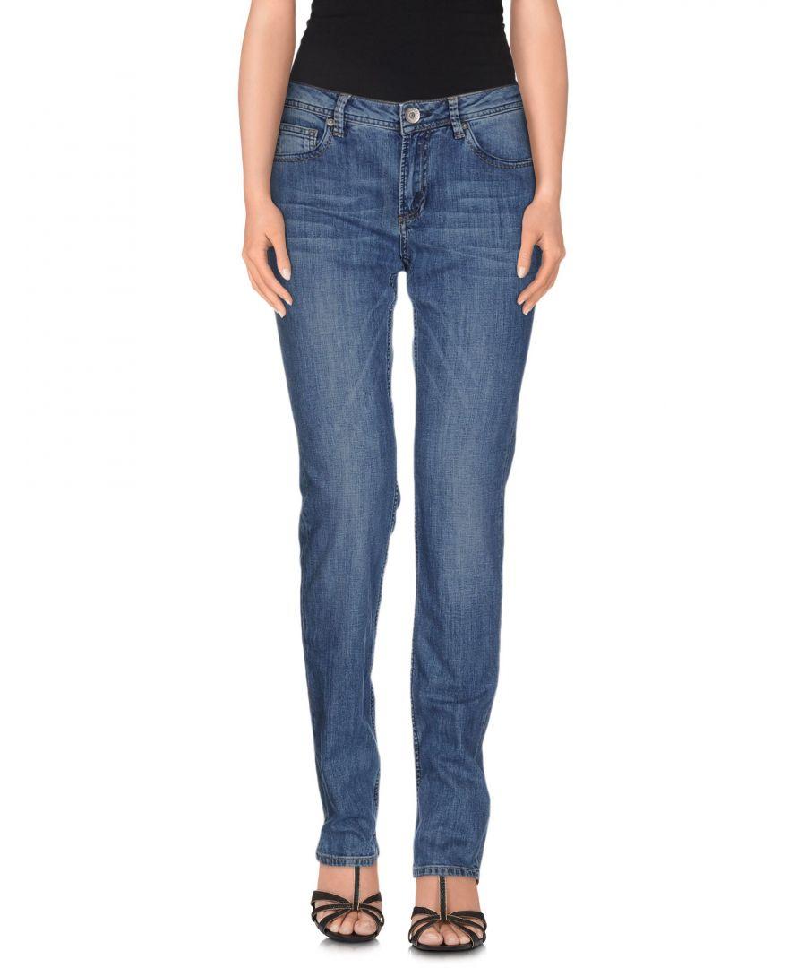 Image for Cerruti 1881 Woman Denim trousers Blue Cotton