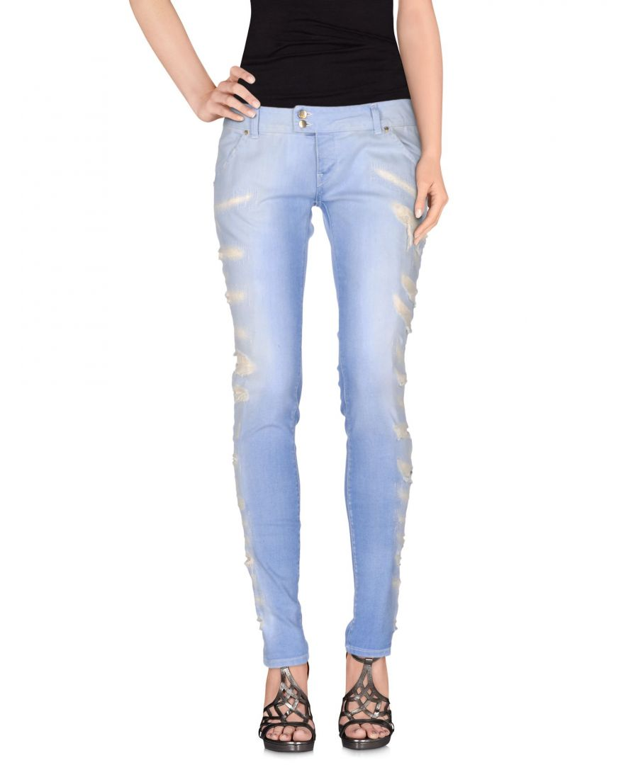 Image for Met Jeans Blue Cotton Light Wash Straight Leg Jeans