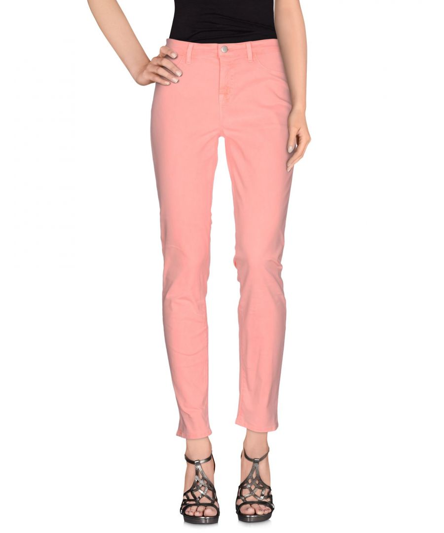 Image for J Brand Salmon Pink Cotton Slim Fit Jeans