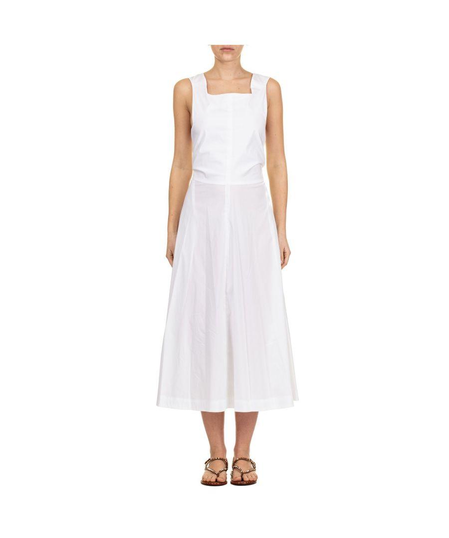 Image for LIVIANA CONTI WOMEN'S L9EK23A010 WHITE COTTON DRESS