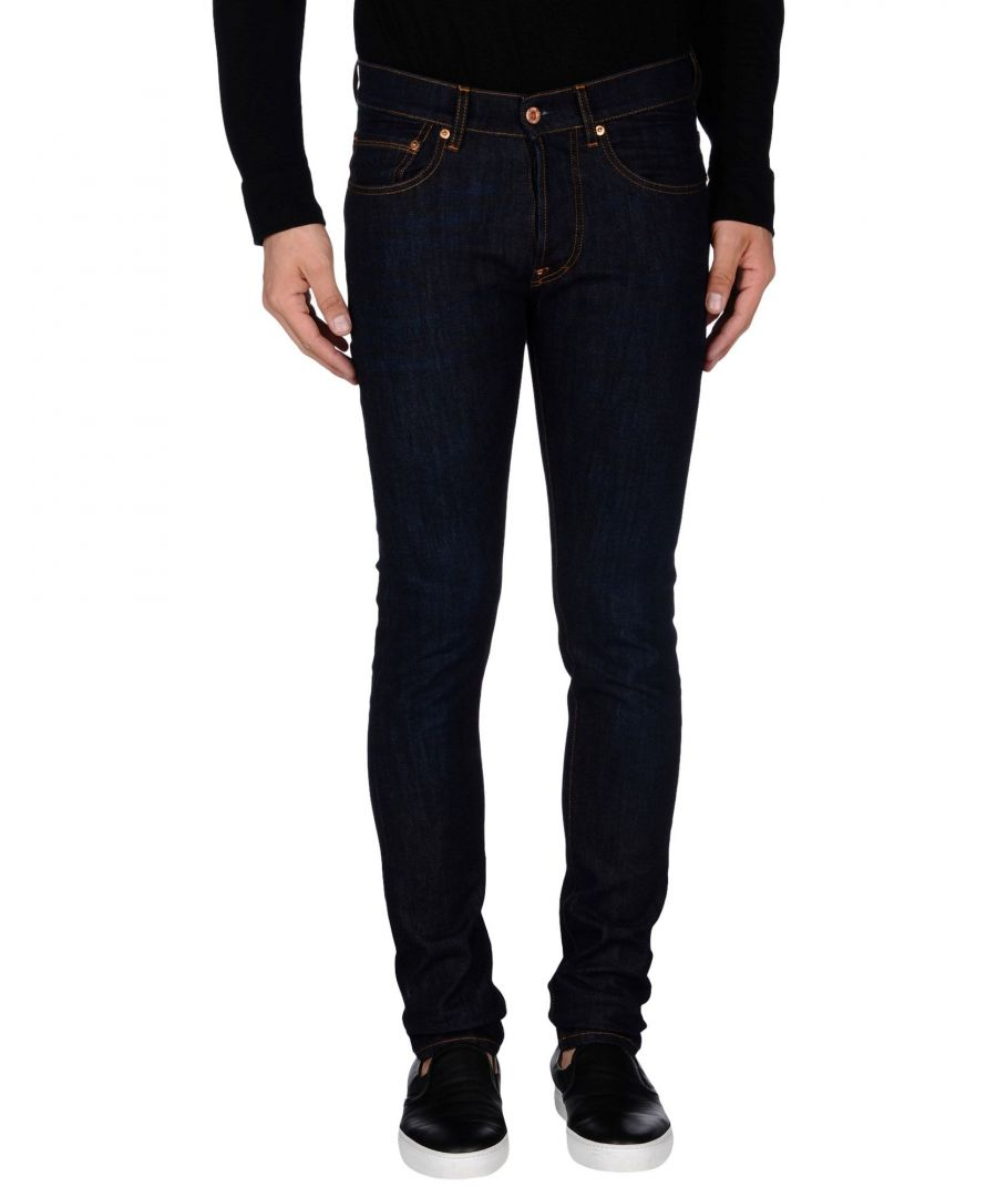 Image for The.Nim Blue Cotton Slim Fit Jeans