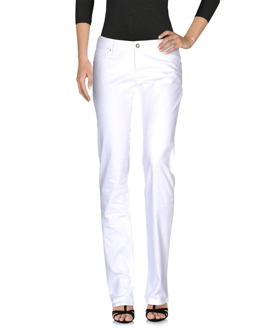 Image for Armani Jeans White Cotton Jeans