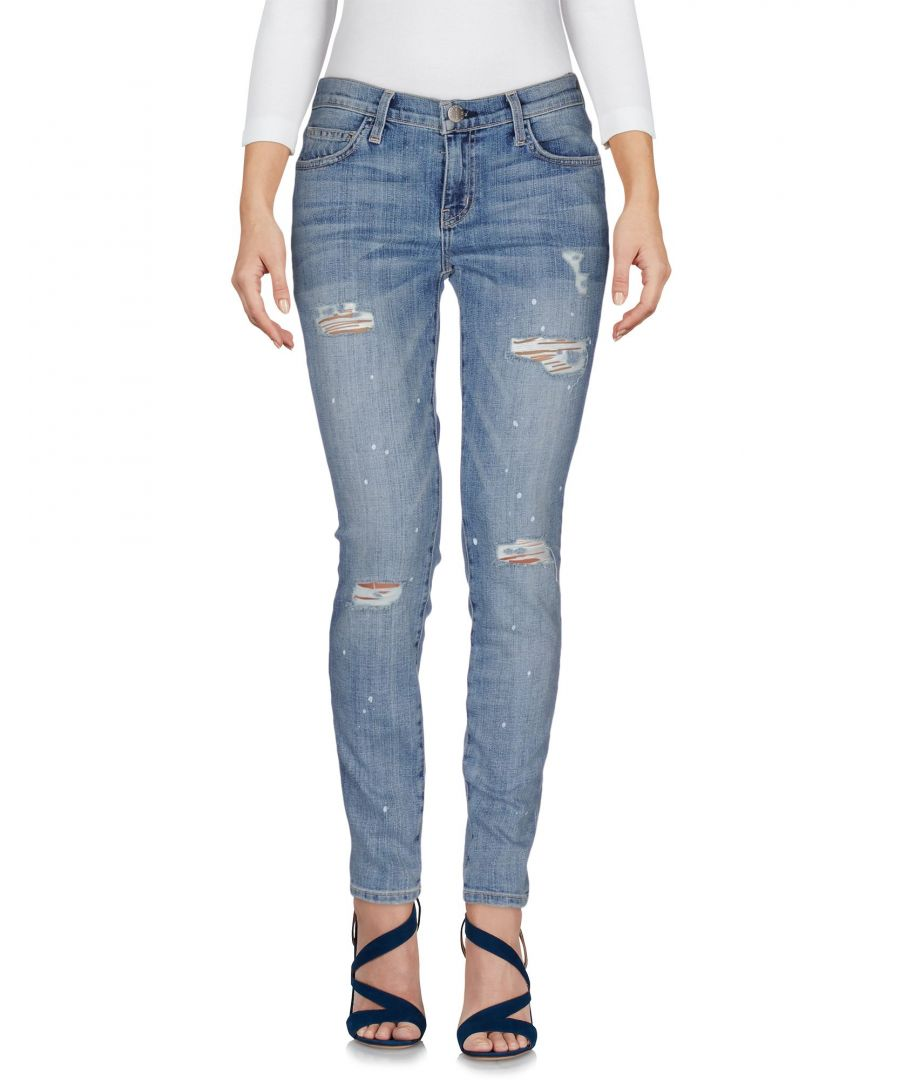 Image for Current/Elliott Blue Cotton Skinny Jeans