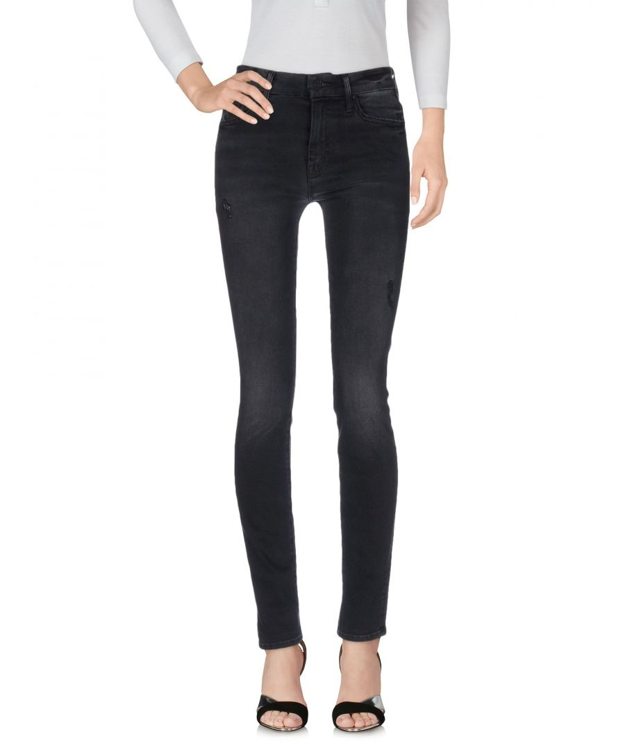 Image for Mother Black Cotton Skinny Jeans