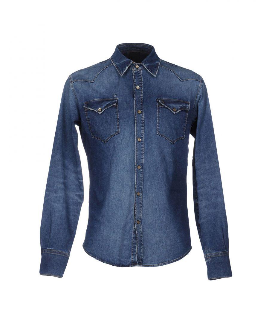 Image for (+) People Blue Denim Shirt