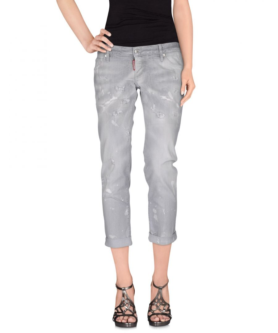 Image for Dsquared2 Light Grey Cotton Cropped Jeans