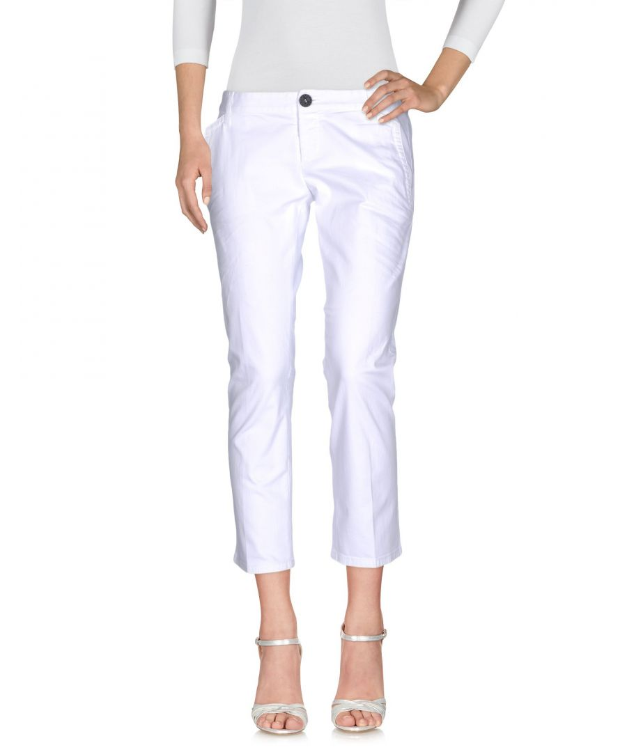 Image for Dsquared2 White Cotton Straight Leg Cropped Jeans