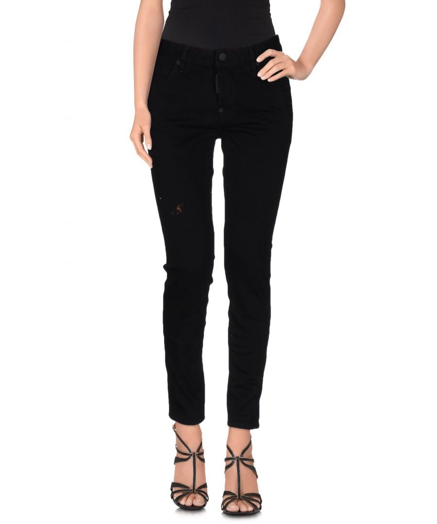 Image for Dsquared2 Black Cotton Skinny Jeans
