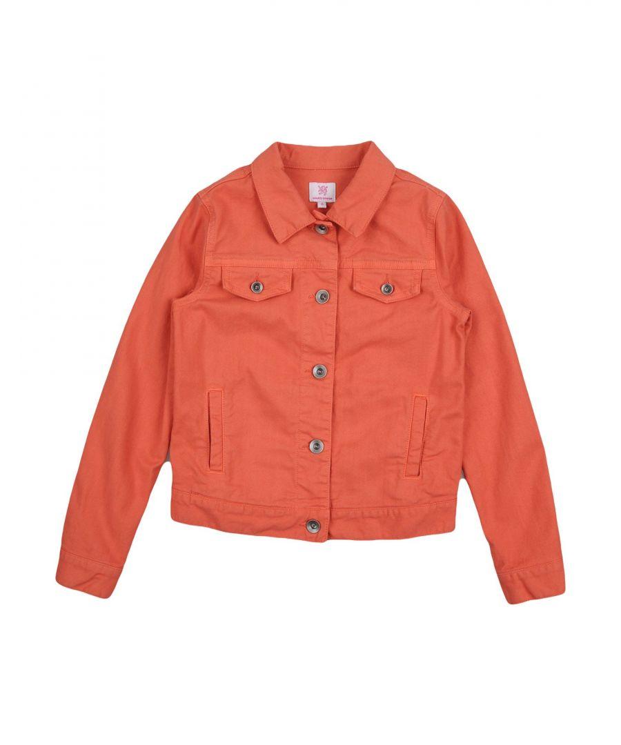 Image for Mauro Grifoni Orange Cotton Denim Jacket