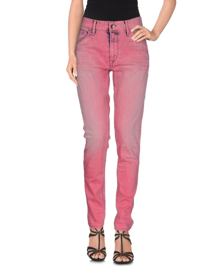 Image for Pepe Jeans Fuchsia Cotton Slim Fit Jeans