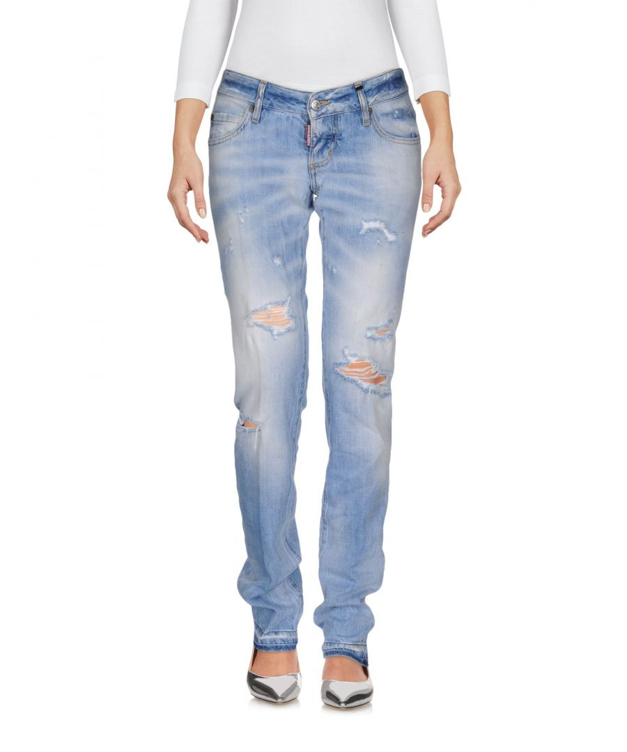 Image for Dsquared2 Blue Cotton Light Wash Slim Fit Jeans