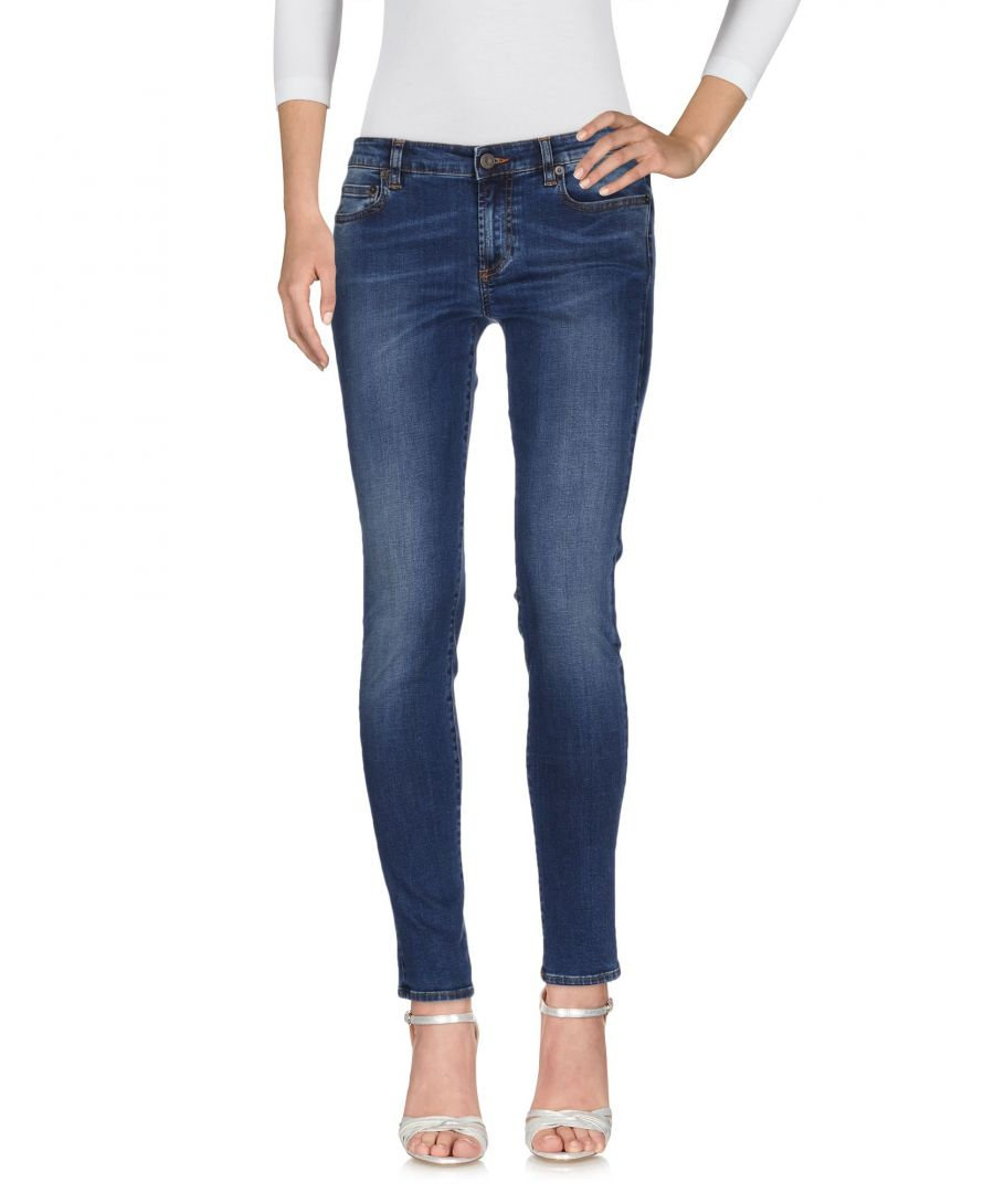 Image for Mauro Grifoni Blue Cotton Skinny Jeans
