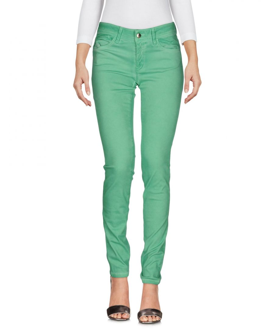 Image for Just Cavalli Green Cotton Skinny Jeans