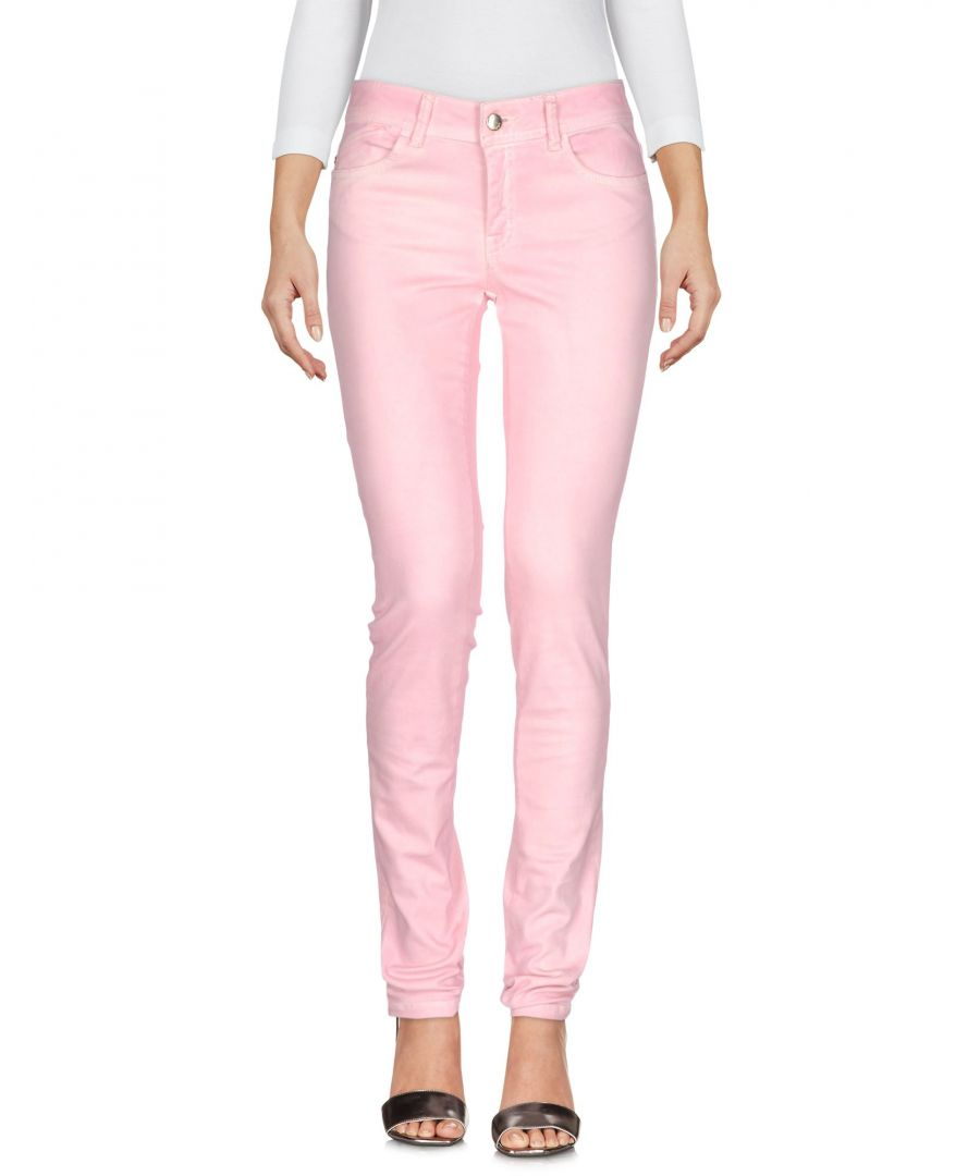 Image for Just Cavalli Pink Cotton Slim Fit Jeans