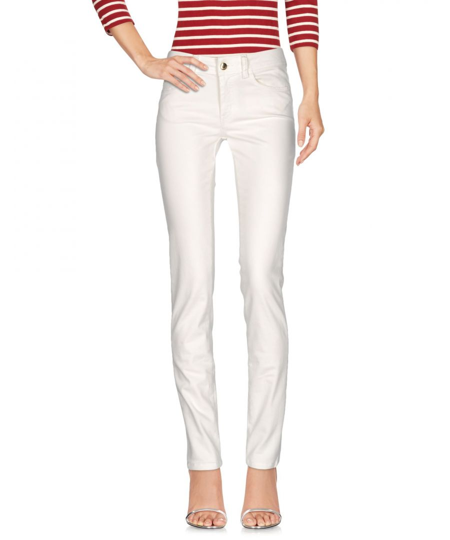 Image for Just Cavalli White Cotton Jeans