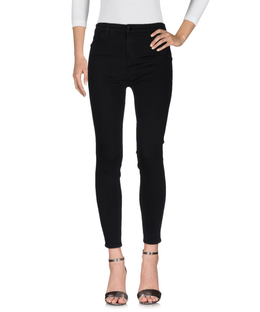 Image for J Brand Black Cotton Skinny Jeans