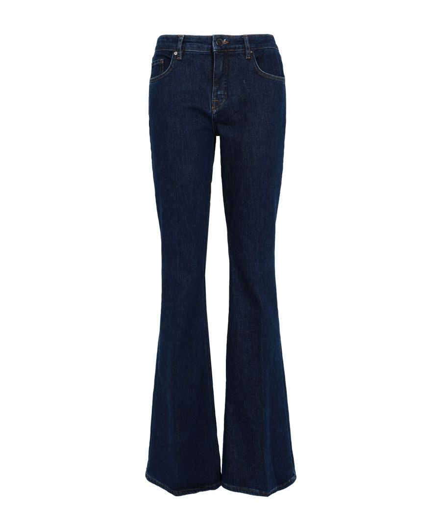Image for Victoria, Victoria Beckham Blue Cotton Flared Jeans