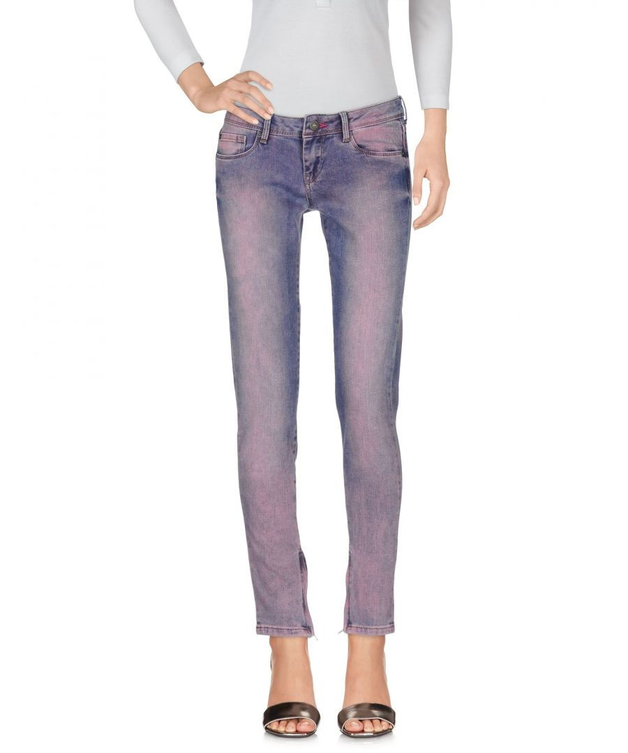 Image for Pepe Jeans Purple Cotton Slim Fit Jeans