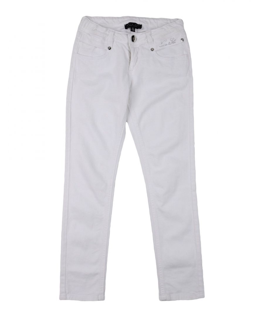 Image for DENIM Girl Twinset White Cotton