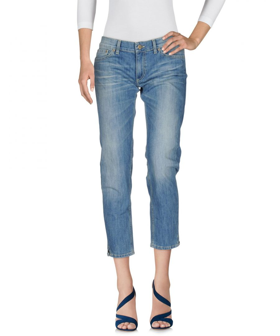 Image for Dondup Blue Cotton Cropped Jeans