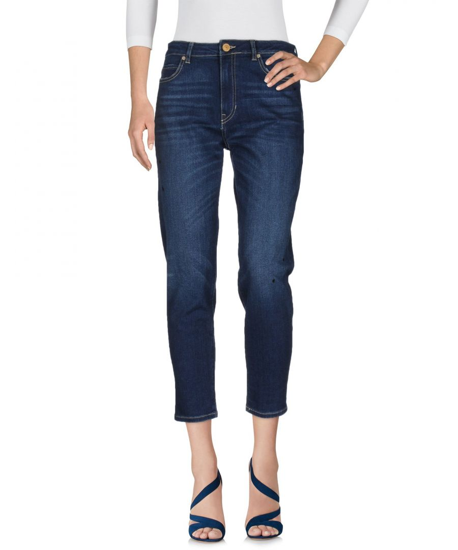 Image for Guess Blue Cotton Cropped Jeans