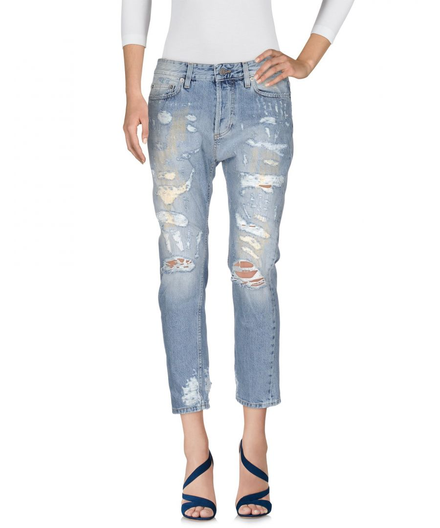 Image for Mauro Grifoni Blue Cotton Cropped Jeans