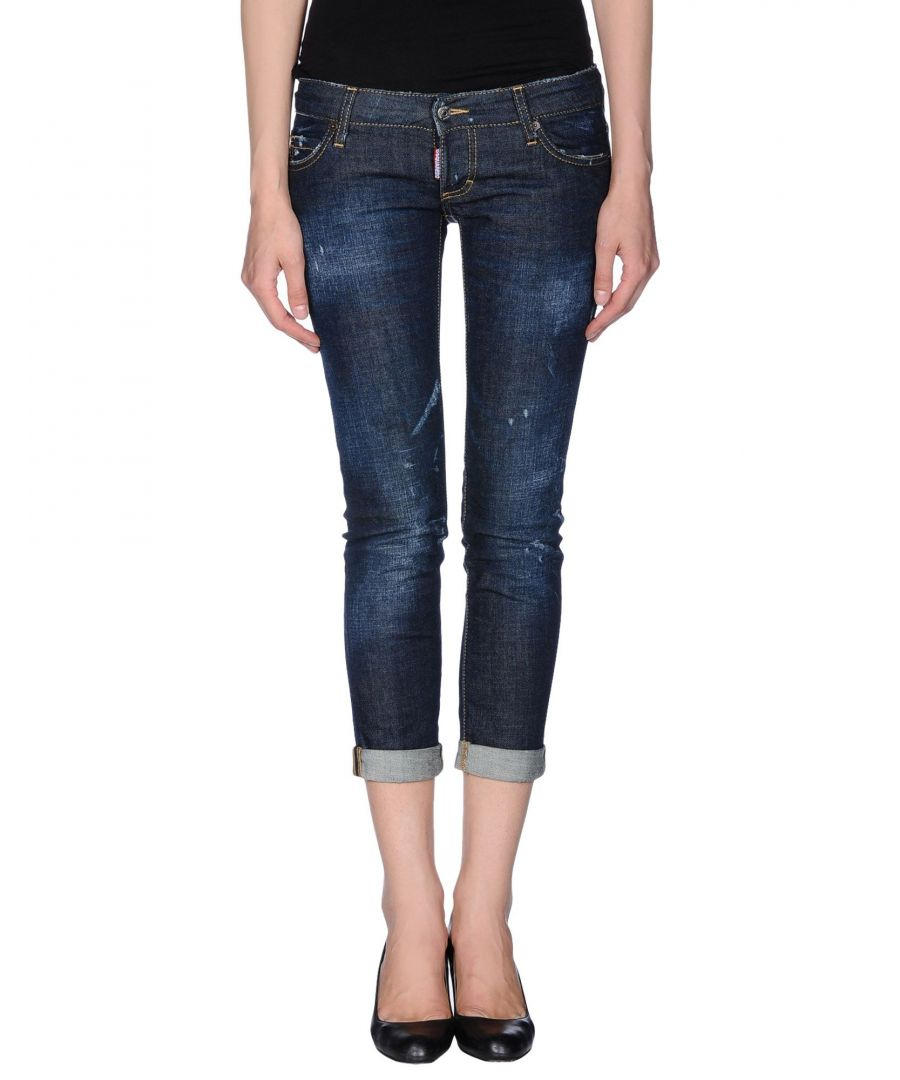 Image for Dsquared2 Blue Cotton Cropped Jeans