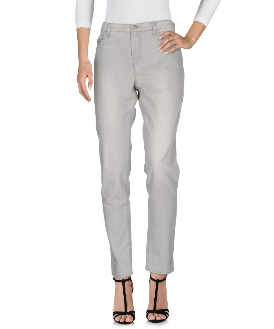 Image for J Brand Light Grey Cotton Straight Leg Jeans
