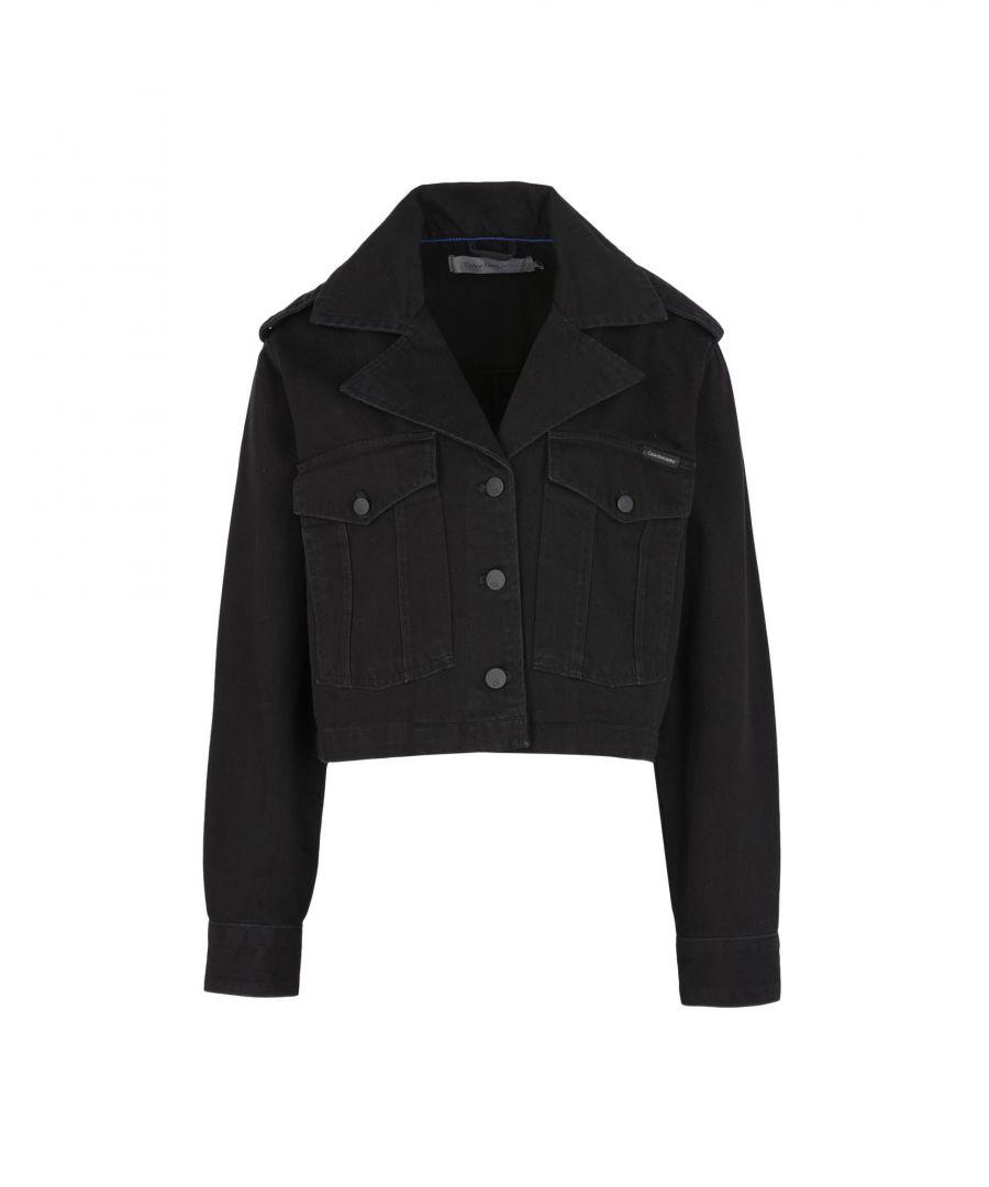 Image for Calvin Klein Jeans Black Cotton Denim Jacket