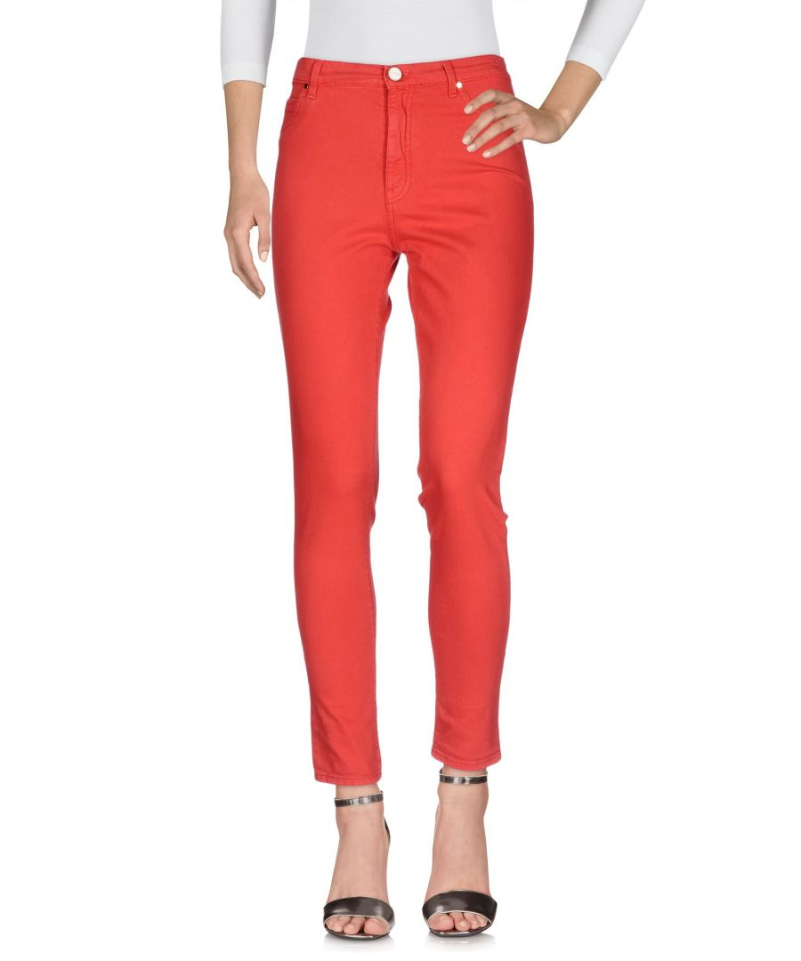 Image for Pinko Woman Denim trousers Coral Cotton