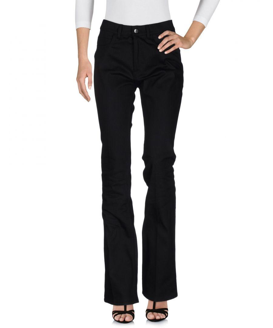 Image for Acne Studios Black Cotton Flare Jeans