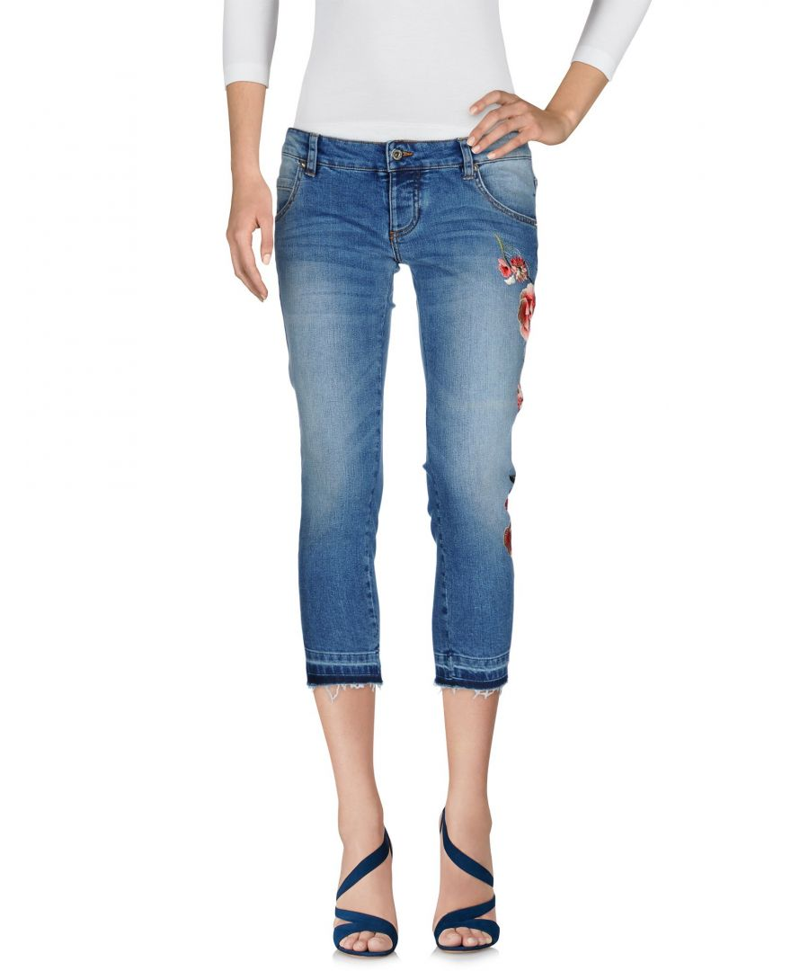 Image for Atos Lombardini Blue Cotton Slim Fit Cropped Jeans